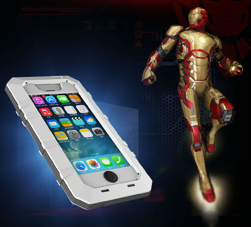 Metal Aluminum Shockproof Gorilla Glass Waterproof Case for IPhone 5S