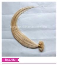hot selling cheap virgin remy 100% human hair nail tip hair extensions
