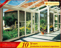 2014 newest modern aluminum glass sunroom garden tunnel green house