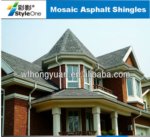 Red Mosaic Asphalt Shingles Hexagonal Roof Tiles Hot Sell In India Buy Mosaic