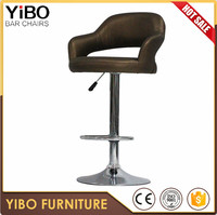 China factory direct supply commercial comfortable latest design modern fix bar stool well designed pu swivel