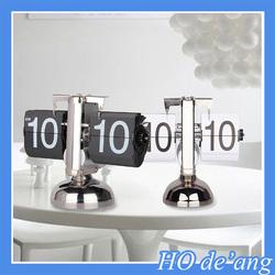 Hogift New design Auto flip clock/retro flip down calendar clock/classical Bell Balance flip clock