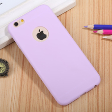 Protective phone case purple TPU cheap phone case for iphone 6 4.7