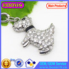 Shiny Crystal Cute Pet Dog Charm Pendant For Jewelry Factory Sale #17165