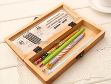 wooden multifunction pencil case