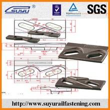 Cravatta ferroviaria piastre/ferroviaria fstener/clip ferroviario