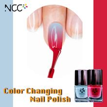 Lady style cheap wholesaler magic Nail Enamel in barrel change color under the sun