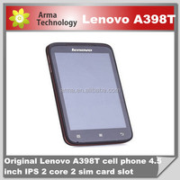 """The Cheapest Phone 4.5"""" Android 4.0 Lenovo A398T mobile phone IPS Dual core Dual SIM phone Support WIFI 5.0MP camera"""