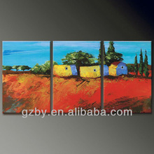 2015 Simple Abstract Art 3pc Oil Painting on Canvas,Oil Painting Set for Sale