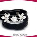 nuevos productos mala tibetano de piedras preciosas bolas de cuero pulseras stretch