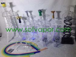 brass hookah pipe crystal hair serum piezoelectric quartz crystal glass vase decorate with christmas