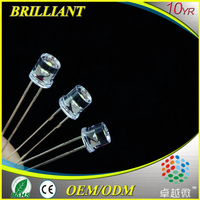 Electronic Components 5mm flat top dip led
