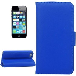 Plain Weave Texture Flip Magnetic Wallet Case for iPhone 5 with Holder