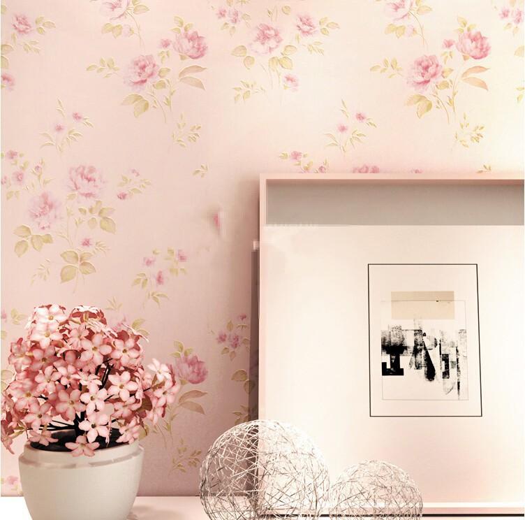 Rose flower romantic floral pvc vinyl wallpaper for for 3d rose wallpaper for bedroom