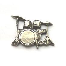 exclusivo personalizado que hace de alta calidad de tambores de metal conjunto de peltre insignia de solapa pin