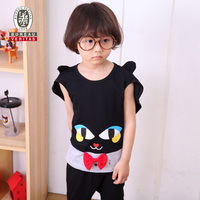 2012 fashion kids clothing overall cartoon cat cosplay fancy kids clothes