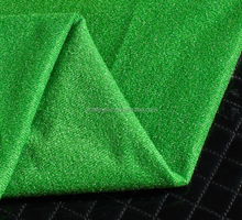 Beautiful 100% polyester knit jersey shining tricot fabric for sport football dress