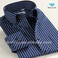 100% cotton stylish European style long sleeve latest design Italian high collar fashion men dress shirt brand name