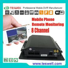 3G en tiempo real compacto control remoto de 4 canales H.264 DVR móvil con GPS incorporado