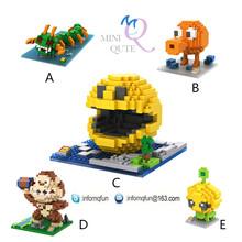 2016 Mini Qute over 500 characters loz nano plastic building blocks puzzle 3d puzzle educational toys 3d games 3d puzzle toy