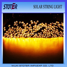 LED Solar Panel Powered Fairy Waterproof Colorful String Lights for outdoor decoration fairy yellow