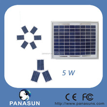 5W polycrystalline solar panel with open circuit voltage 22.2V