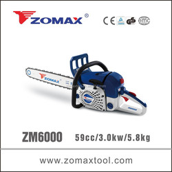 best selling Zomax 59cc mini electric saw with walbro carburetor