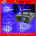 300 mW láser azul Efecto proyector insignia del texto Laser