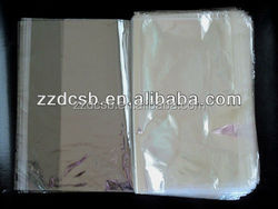 Clear Plastic Poly Bag With Adhesive Tape For Garment Packaging