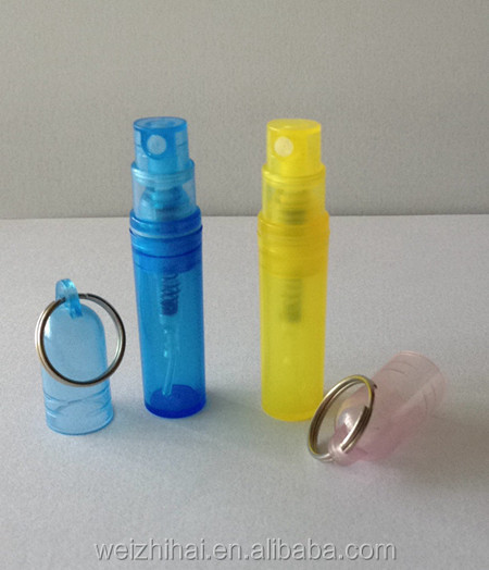 2ml Unique Plastic Perfume Bottle with Key Ring
