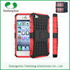 Mobile phone cases covers manufacturer PC TPU Custom 2 in 1 dual layer case with kickstand smart case cover for Apple iPhone 5
