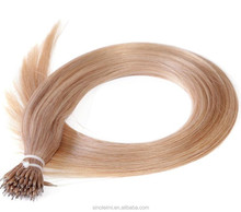"LM Hair 20"" 1g/strand 100g 27# natural micro links loop hair extensions thick straight virgin remy nano ring hair pieces"