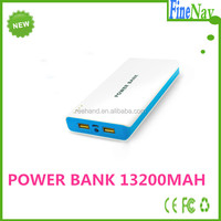 China Shenzhen move power bank supplier 13200mah dual 2.1a for iphone4 power bank for ipad