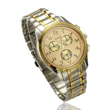 2015 Hot-selling Golden fashionable casual watch movement quartz watch men