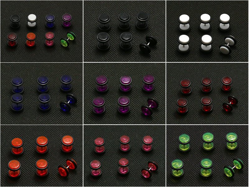 0 traslucent color 8mm fake ear plugs.jpg