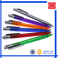 High quality cheap price logo printed plastic promotional pens