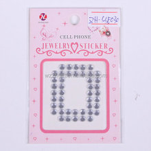 cell phone deco letter acrylic jewelry sticker