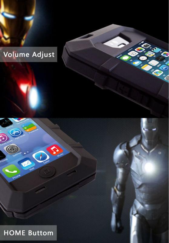 shock rain and dust proof Metal Gorilla Glass Waterproof Case For Iphone 5s