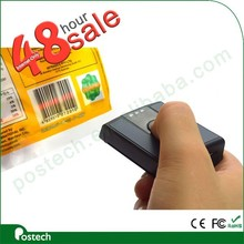 portable wireless laser qr code 1d bluetooth barcode scanner with 3.9MB memory for setting data/time in different language
