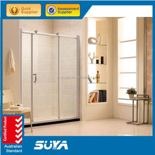 Chrome tempered glass shower wall panels