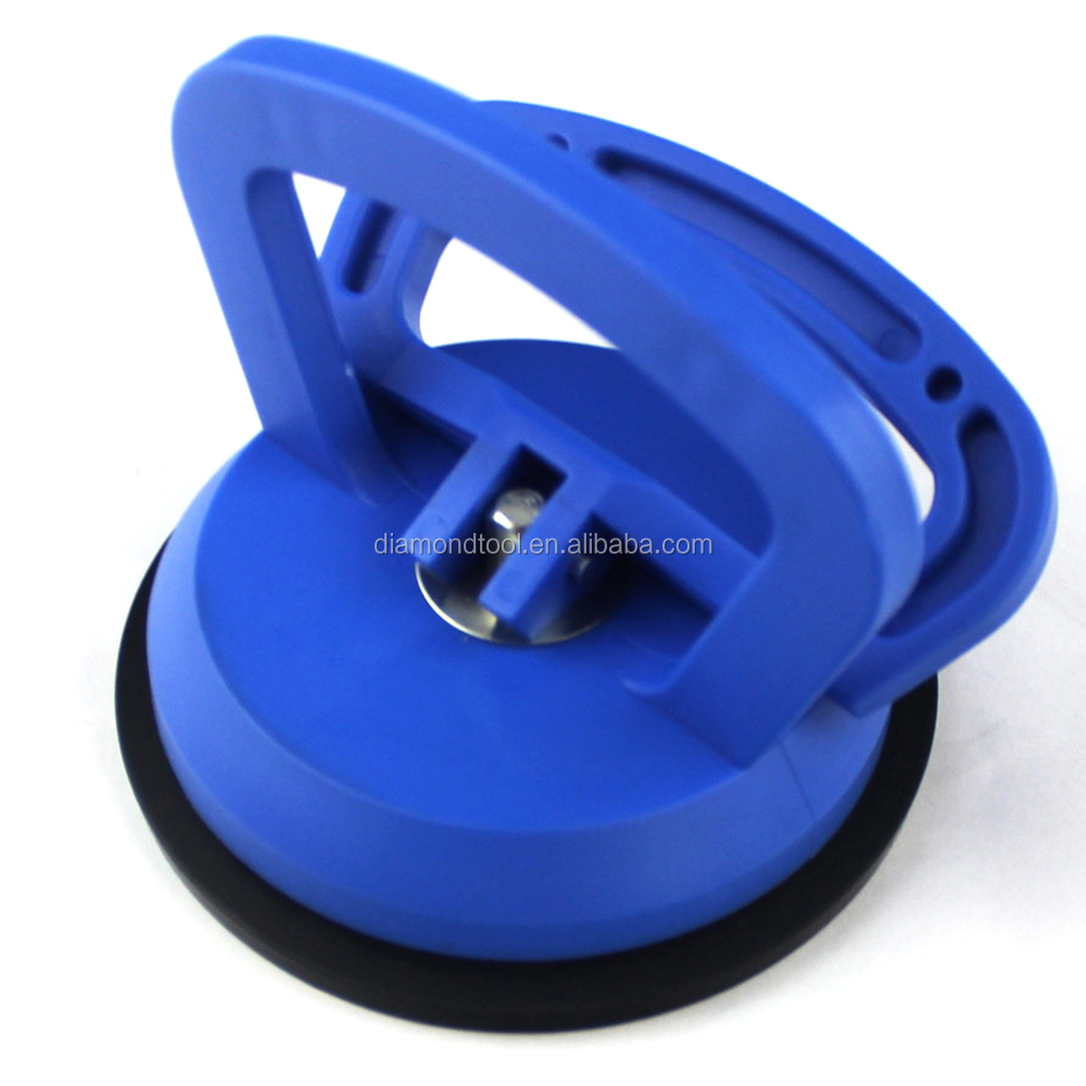 single glass lifter suction cup blue plastic handle
