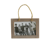 "Weathered Wood 4""x6"" Hanger Photo Frame with Rope"