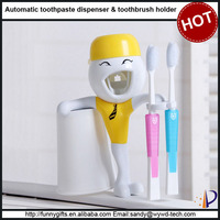 Hot selling novelty wall mounted funny toothbrush holder