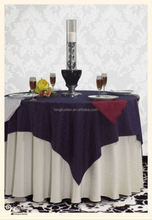 the ecru organza table cloth with the embroidery for decoration