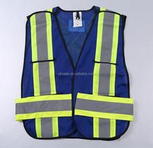 ANSI Workplace Reflective Blue Mesh Safety Vest
