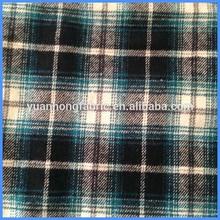 100% Cotton Yarn Dyed Wowen Twill 16*16 Plaid Flannel Fabric
