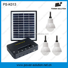 2015 best selling products 3 lights solar light system with mobile charger, solar home lighting kit