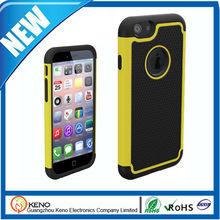 Pc de silicona caso de tpu para el iphone 6, iphone6 para casos, 3 en 1 combo caso para el iphone de aire