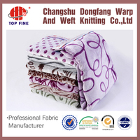 wholesale printed polyester bulk flannel fabric