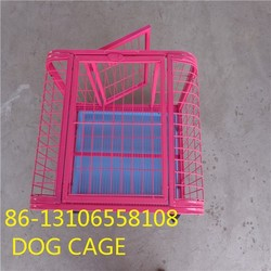 foldable stainless steel dog cage crate with wheels
